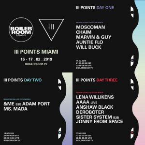 Adam Port b2b &ME | Boiler Room x III Points Festival Artwork