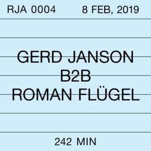 Robert Johnson Archive 0004: Gerd Janson b2b Roman Flügel Album Art