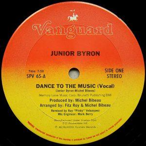 Junior Byron – Dance To The Music (Dub Mix) Artwork